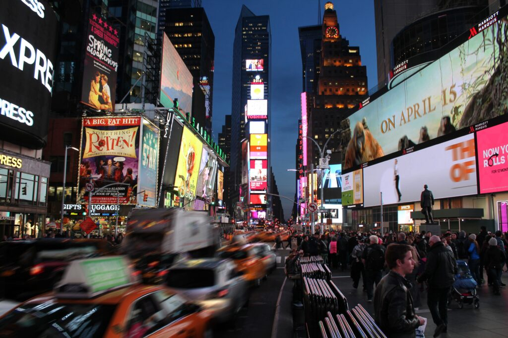 Capalino works with Outfront Media formerly CBS Outdoors Times Square billboard
