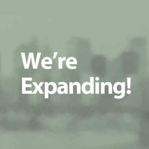 We're Expanding
