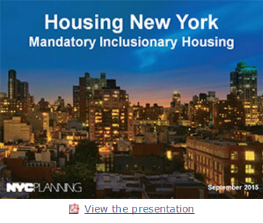 Housing NY- Mandatory Inclusionaring Zoning