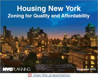 Housing NY- Zoning QA