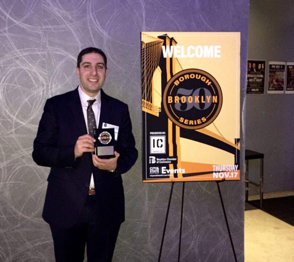George Fontas of Capalino+Company receives award from City&State as Brooklyn Top 50 Power Players
