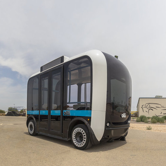 olli self-driving shuttle-- AI automationdriverless vehicles