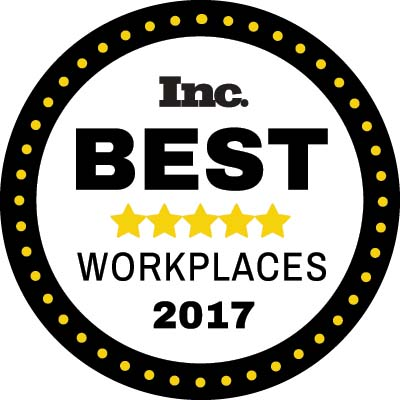Capalino is proud to be ranked on Inc. Magazine's Best Workplaces List for 2017,