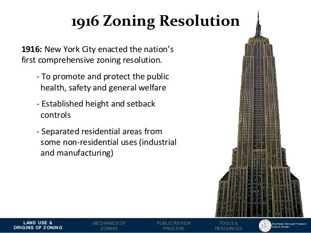 1916 Zoning Resolution for the Board of Standards and Appeals (BSA)