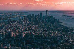 Aerial photo of New York City
